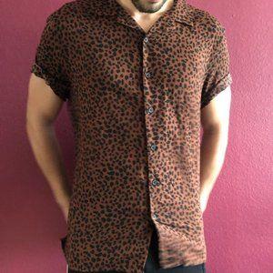 Men's Leopard Print Shirt